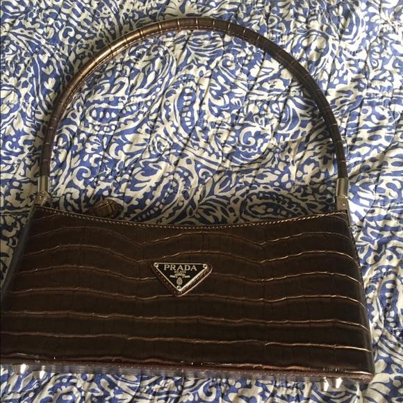 600ef8799027 Vintage Prada Milano Dal 1913 Crocodile Brown Bag.  M_5bfc2afae944ba2cbe2a3a22